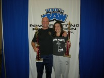 Forney and Elizabeth after the 100% Raw Powerlifting meet wayyyy back in September 2012. Winning!