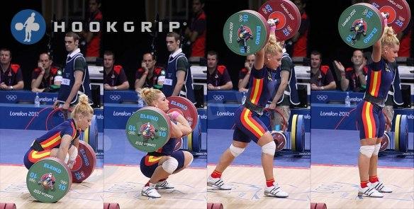 Lidia Valentine (-75kg, Spain), 140kg Clean & Jerk