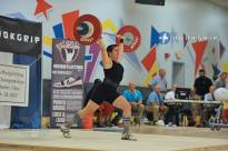 Coach Elizabeth hitting an 84kg jerk on her second attempt at 2013 USAW Nationals