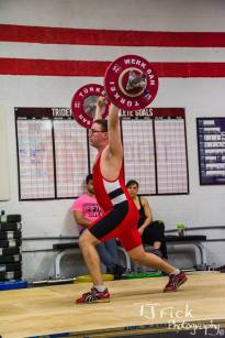 Chad nailing a 90kg jerk on his opening attempt at the 2014 Cap City Open