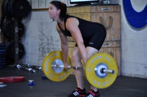 Melinda's opening 48kg clean (and jerk) from the 2014 RVA Open