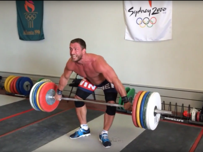 Dmitry Klokov pause snatch.